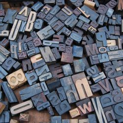 Collection of letterpress blocks.