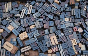 Collection of letterpress blocks.